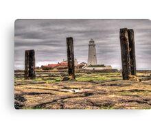 St Marys Lighthouse framed (HDR using Photomatix) Canvas Print