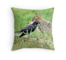 Who's afraid of the big bad wolf ? Throw Pillow