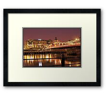 Newcastle Swing Bridge (HDR using Photomatix) Framed Print