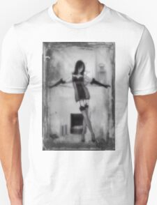 A fireside pose with textures T-Shirt
