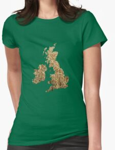 UK arable farming. Womens Fitted T-Shirt