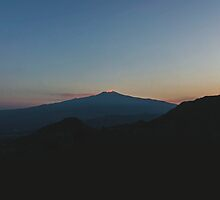 Mt Etna at Sunset by Craig 'has a nice' Dick