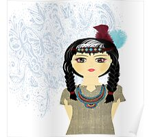 Native American Indian Girl  Poster