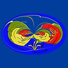 An abstract flower design by Dennis Melling