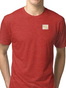 Yellow Cross-Stitch Rose Tri-blend T-Shirt