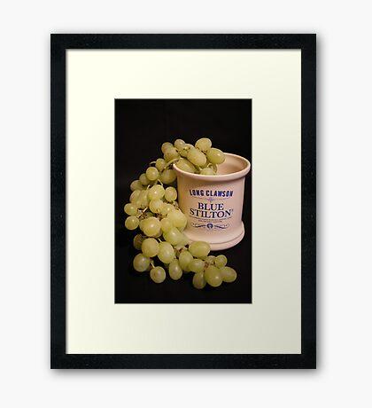 ~ A Marriage Of Stilton and Grapes ~ Framed Print