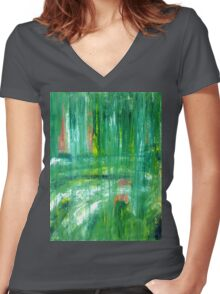 Walk in the Park Women's Fitted V-Neck T-Shirt
