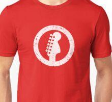 Stratocaster 70s Headstock, White Unisex T-Shirt