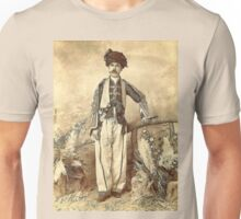 A digital painting of  the Kurdish chief, Musa Beg, Kurdistan ca.1880 Unisex T-Shirt