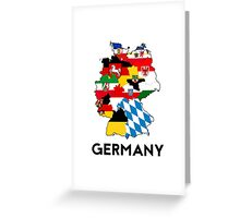 germany country political flag map Greeting Card