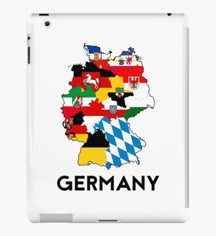 germany country political flag map iPad Case/Skin