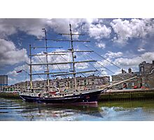 "Sailing Ship ""Tenacious"" - Cork Harbour, Ireland Photographic Print"