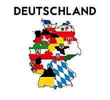 germany country political flag map Photographic Print