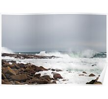 Stormy Weather and Raging Sea Poster