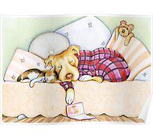 Pit Bull In Pajamas Poster