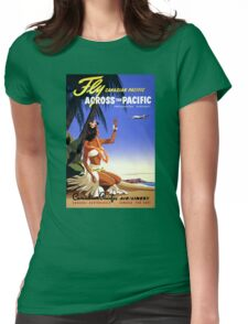 Canada Vintage Travel Poster Restored Womens Fitted T-Shirt