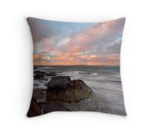 Rainbow Coast Throw Pillow
