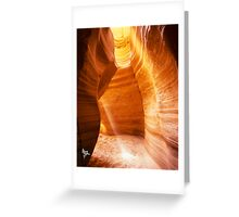 Canyon X Light Shaft Greeting Card
