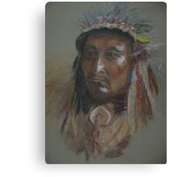 Crazy Thunder-American Indian Chief Canvas Print