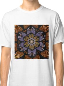 Graphic patterns flower in orange, yellow and purple Classic T-Shirt