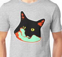Electric Tuxie Face, Orange/Teal Unisex T-Shirt