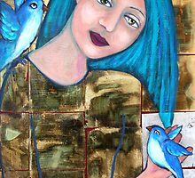 Bluebirds of Happiness by Lorna Gerard