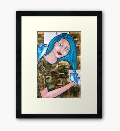 Bluebirds of Happiness Framed Print