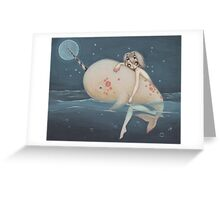 The Narwhal fairy sprite Greeting Card