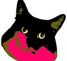 Electric Tuxie Face, Pink/Olive by Blake Chamberlain