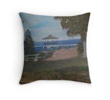Walkway on Lake Eustis Florida Throw Pillow