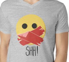 SHH! Mens V-Neck T-Shirt