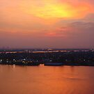 Morning Sky over the Mississippi River  by Shelby  Stalnaker Bortone