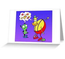 Heffer and Gir in Food Heaven Greeting Card