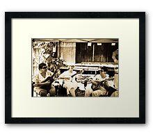 Pickin & Grinnin Framed Print