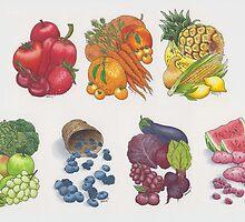 Fruits & Veggies  by okiedokieloki