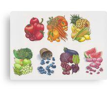 Fruits & Veggies  Canvas Print