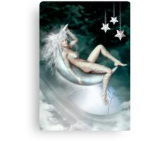 Moon Cradle Canvas Print