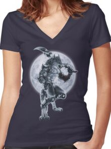 Lycan Knight Women's Fitted V-Neck T-Shirt
