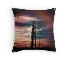 Industrial Storm Throw Pillow