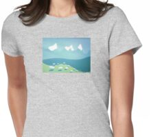 sheep may safely graze Womens Fitted T-Shirt