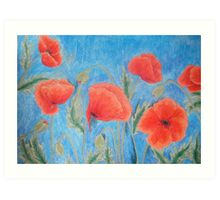 Red Poppies IX Art Print
