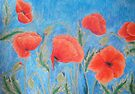 Red Poppies IX by Alexandra Felgate