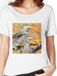 Yellow-billed Horn-bill - Beaks of Color and Life Women's Relaxed Fit T-Shirt