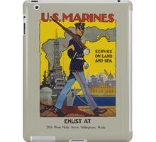Vintage US Marines Poster iPad Case/Skin