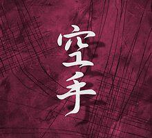 Karate, Pink Japanese Wall Art by soniei