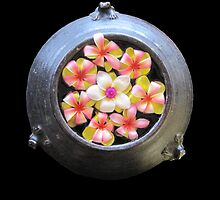 Thai Flowers Floating in a Frog Pot by DAdeSimone