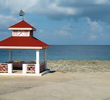 Gazebo by the Caribbian Sea by Rosalie Scanlon
