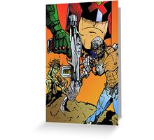 Mean Machine Angel - Up ta 4 with Judge Dredd  Greeting Card