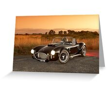 Black 1965 Shelby Cobra 427 Replica Greeting Card