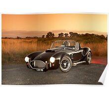 Black 1965 Shelby Cobra 427 Replica Poster